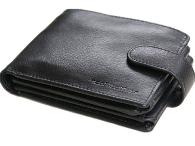 Wallets with button clasp