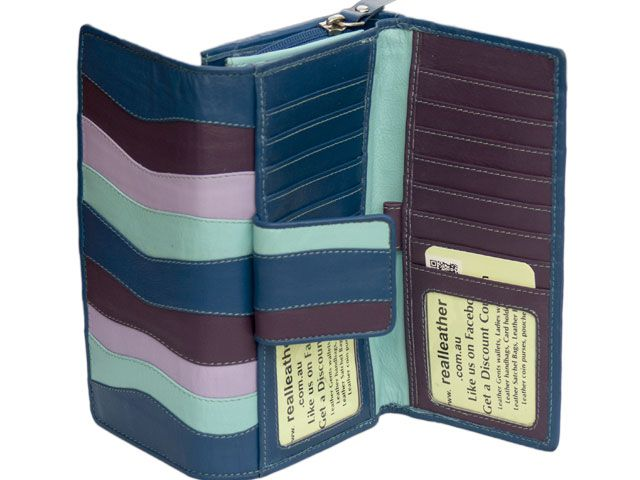 57f6264ca0 Handmade Real Leather Wallets & Bags| Long double sided multicoloured  Australian-designed ladies leather wallets |Designed in Australia