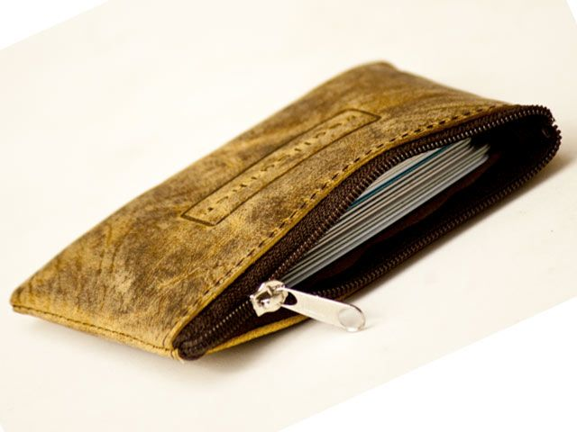 finest selection c558d b4576 Zip Card case & Coin purse Hunter Leather