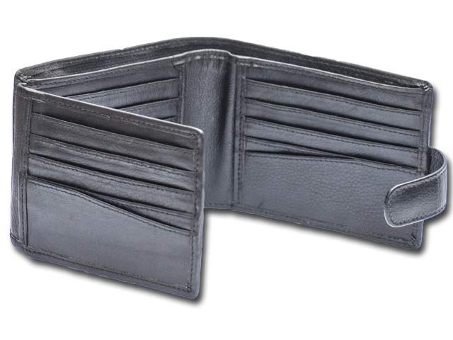 7c1ba4bcd1 Mens Bi fold Leather Wallet | 20 Card slots | Button Clasp Closure | RFID  Feature | Zip banknote sleeve