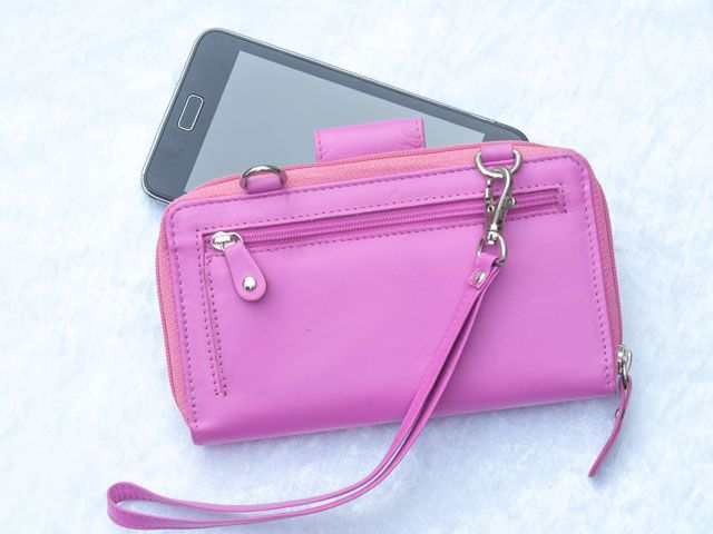 newest 20045 24cf4 Clutch Leather Wallets for Women with Phone Holder, Long Wallet, Zip Purse,  Wristlet, Mini Clutch Bag