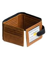 MENS fourfold 26 Card slots real leather wallet. Organise your cards