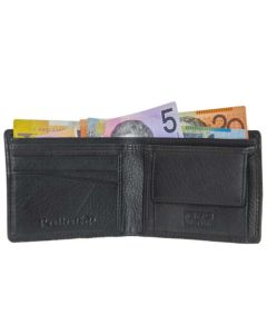 Leather Wallet Mens | Minimalist Coin Wallet | Slim Wallet with Coin Pocket | RFID
