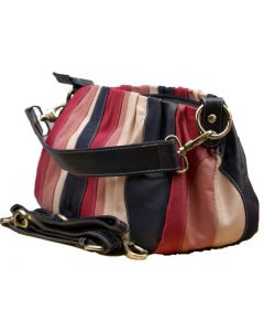 Womens Soft Leather Bag in Multicolour Leather
