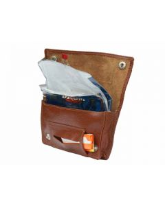 Real Leather Tobacco Pouch with cigarette paper holder