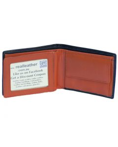Mens wallet features coin pocket card space & bank note compartment