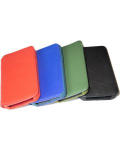 Cowhide Leather Wallet Phone Case For iPhone 12, 12 Pro & 12 Pro Max | Full Body Protect Flip Cover | Foldable Desktop Stand with Card Holder | Black, Blue, Red & Green