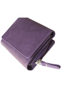 Palm size Women's Mini Trifold Leather Wallets, with outside coin pocket