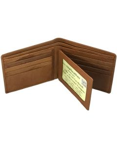 Men's Slim Bifold Wallets | Slim Wallet For Men | Centre Flap | Dual ID Window | Skinny Wallet | Thin Wallet