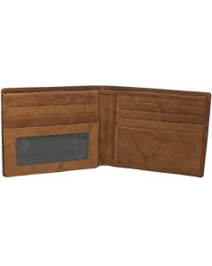 Slim Bi-Fold Wallet full-grain leather, Dual ID Window, a stylish, sleek and functional wallet.