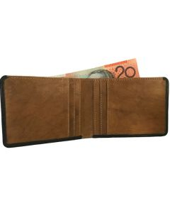 Mens Super Slim leather wallet, thin leather billfold