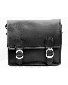 Traditional Old School Leather Satchel Bag, 9 Inches