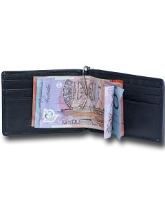 Men's Leather Money Clip Wallets with Credit Card slots