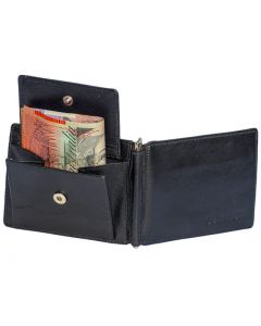 Men's Leather Money Clip Wallets with Coin Pocket