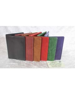 Leather Passport Cover with RFID Blocking