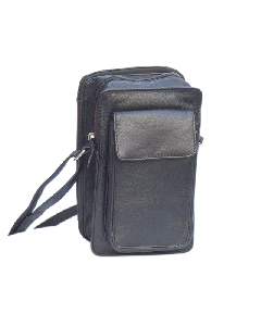 Small travel bag with Organiser inside, cross-body, Holds all, Napa leather