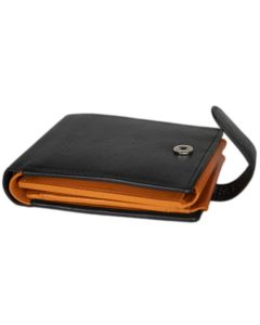 MENS fourfold Wallet | 20 Card Slots  | Leather Wallet with Coin purse | Press Stud Closure