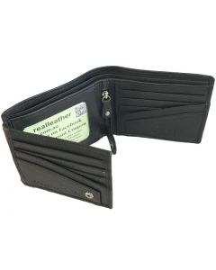 Mens Wallet bifold double ID With 12 card slots and zip note compartment