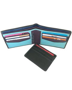 Mens Bifold Leather Slim Wallet with a slide out removable card case