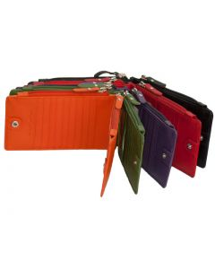 Slim Zip Wallet for Woman | Clutch Wallet with lots of Card Slots | Fits Smart phone | Outside Zipper Purse